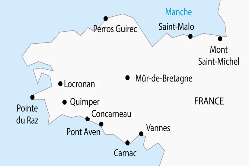 carte France Bretagne Mont Saint Michel depart sud 2019_297 147303