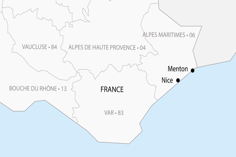 carte France Carnaval Nice Fete citron Menton depart sud 2019_297 316513