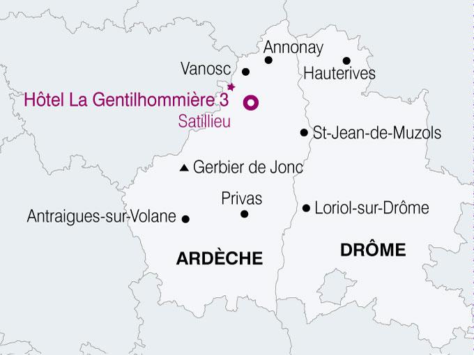 carte France Charme Ardechois  nthiver 140989