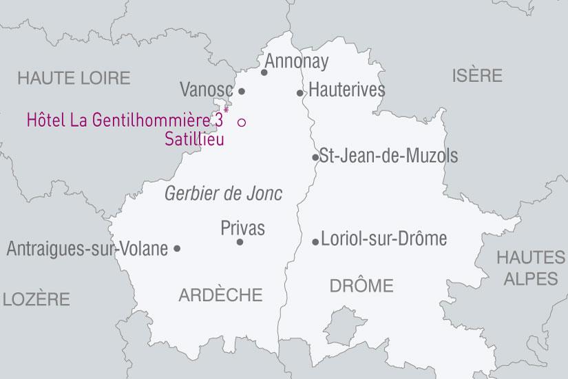 carte France Charme Ardechois 253173