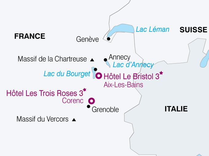 carte France Chartreuse Vercors  nthiver 490130