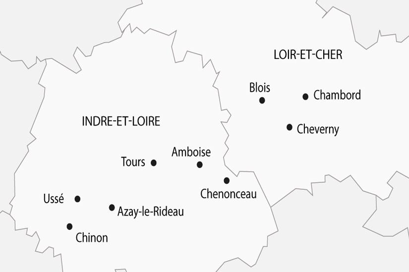 carte France Chateaux de la Loire depart sud 2019_297 560211