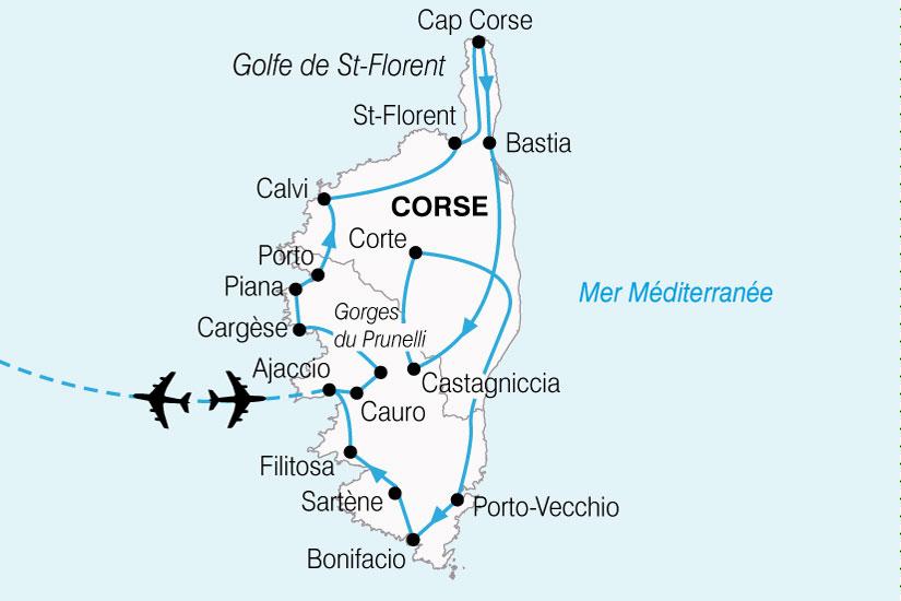 carte France Corse Merveilles 228430