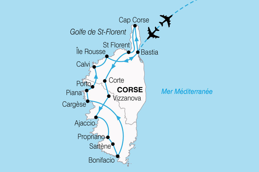 carte France Corse Nord Sud 809886