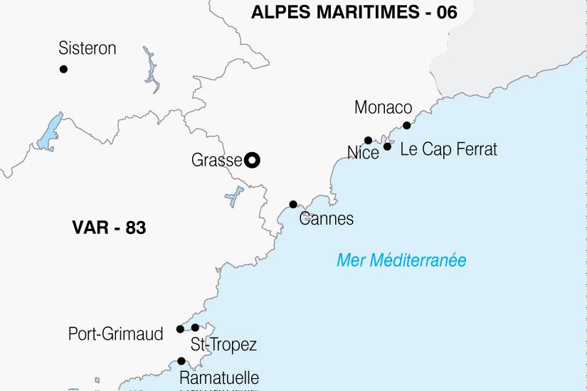 carte France Cote Azur 105213