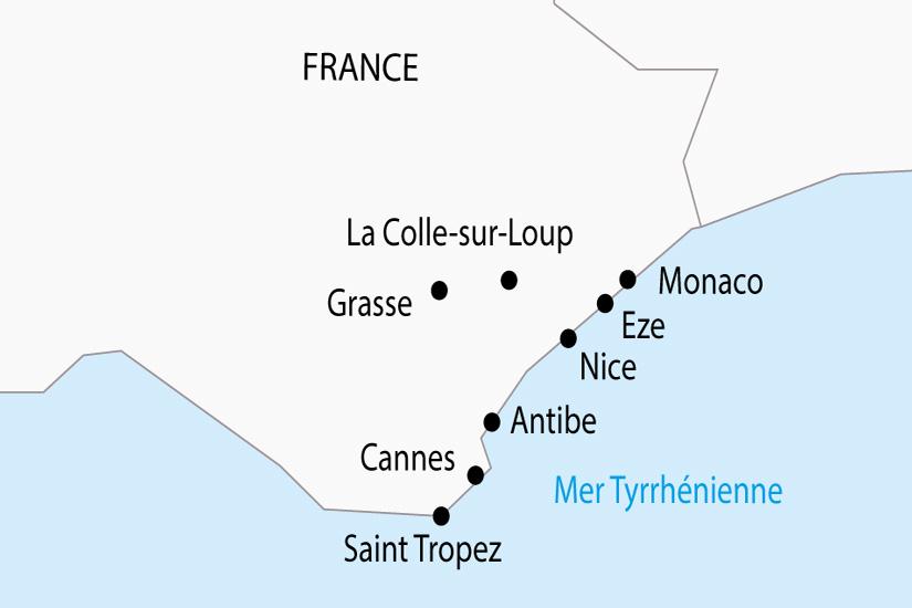 carte France Cote d Azur Monaco depart sud 2019_297 673932
