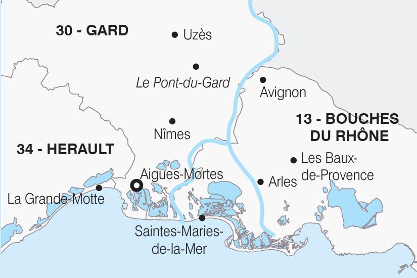 carte France Entre Camargue et Provence SH20_339 187749