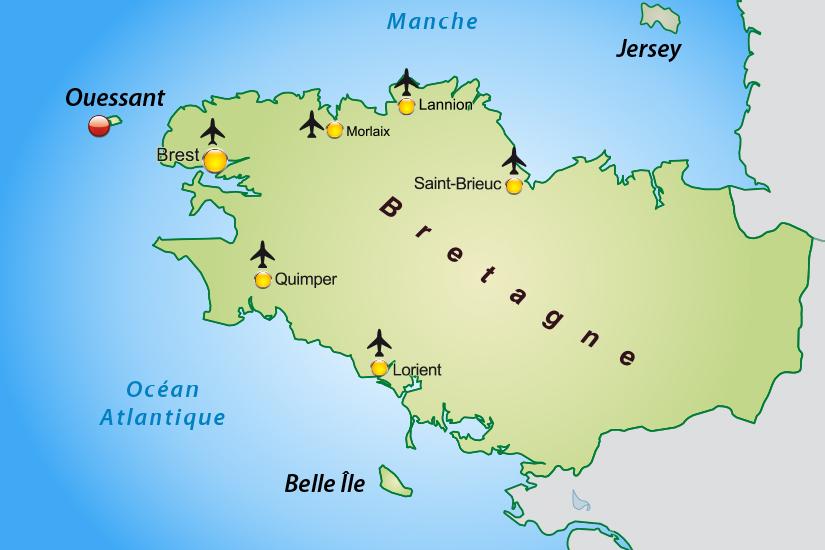 carte France Ile d Ouessant avec Finist Air_355 572342