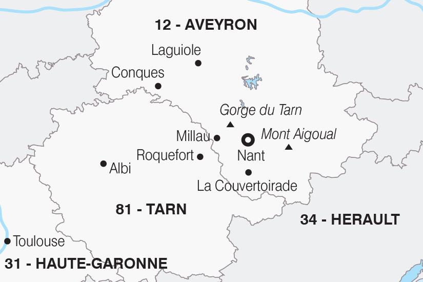 carte France L Aveyron les portes du soleil SH20_339 519118