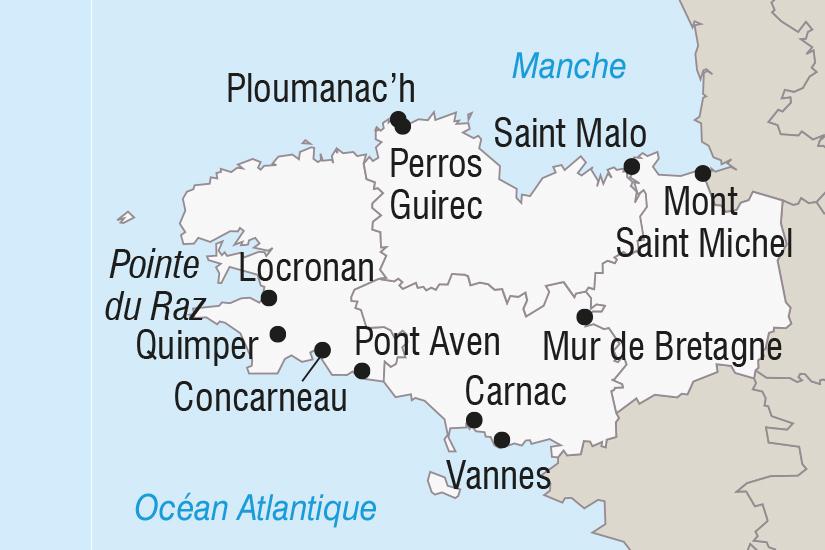 carte France La Bretagne et le Mont Saint Michel SH SUD19 20_321 356040