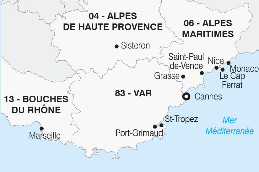 carte France La Cote d Azur SH20_339 505158