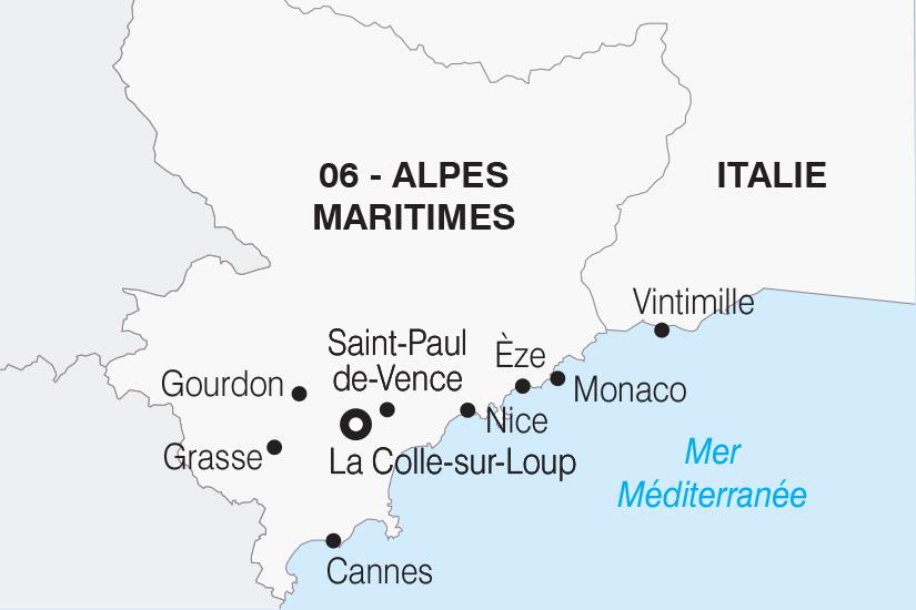 carte France La Cote d Azur des Alpes Maritimes a l Italie SH 21 22_382 473584
