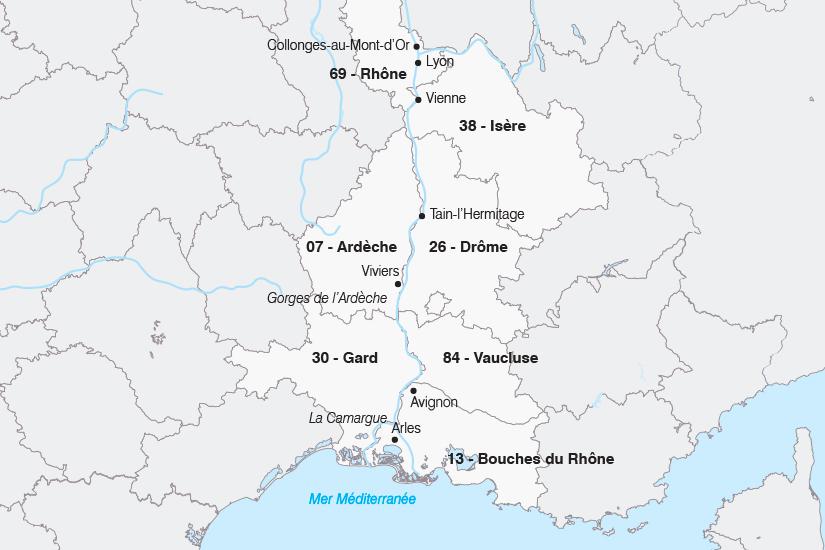 carte France Le Rhone au fil de l eau SH19 20_319 320389