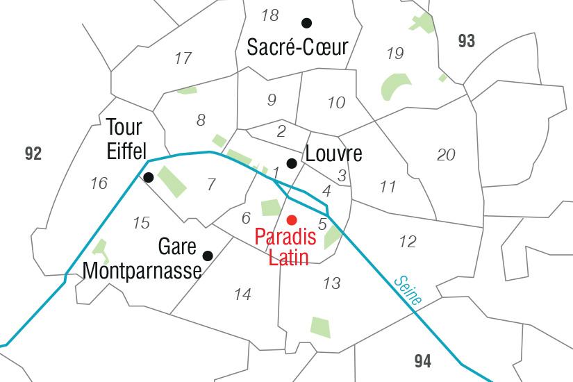 carte France Merveilles Parisiennes et Paradis Latin_306 763354