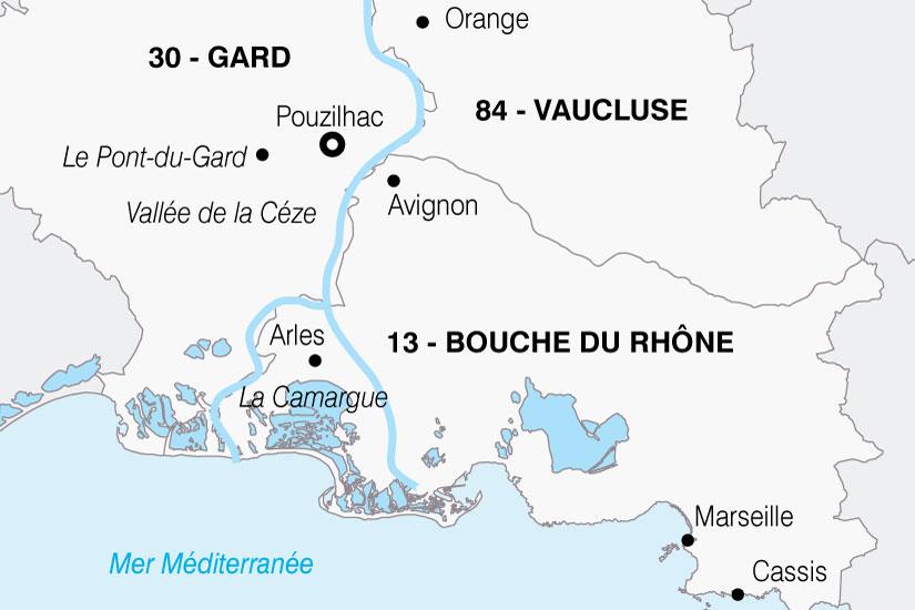 carte France Parfums Provence 871945