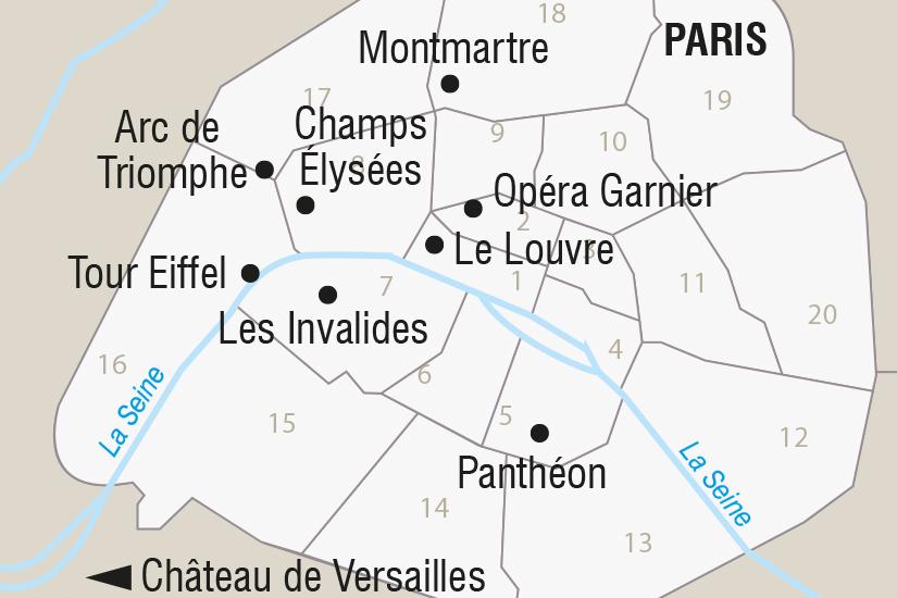 carte France Paris et le Chateau de Versailles SH SUD19 20_321 749300