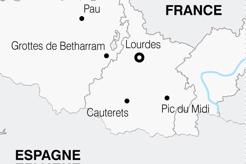 carte France Pyrenees Lourdes 341038