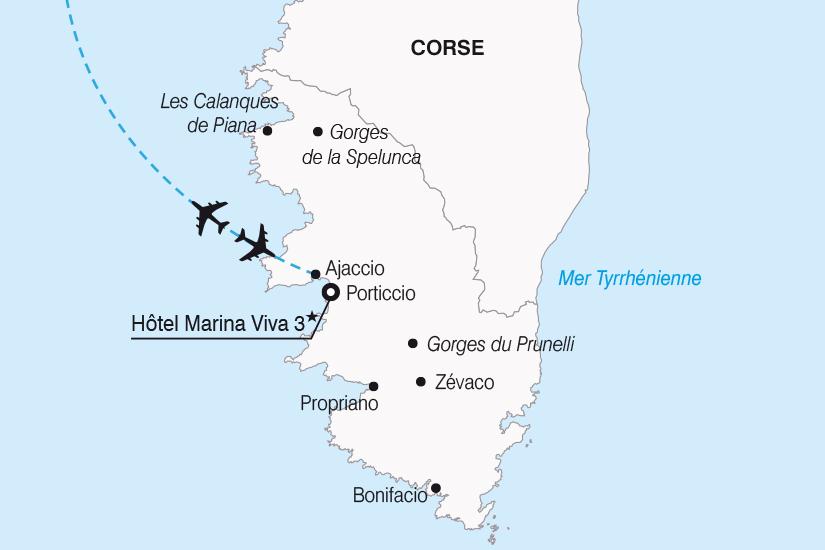 carte France Sejour decouverte en Corse SH20_339 480927
