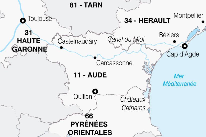 carte France Tresors Occitanie 808310