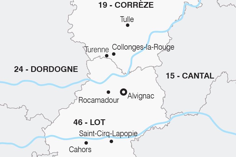 carte France Vallees du Lot et de la Dordogne SH 21 22_382 791976