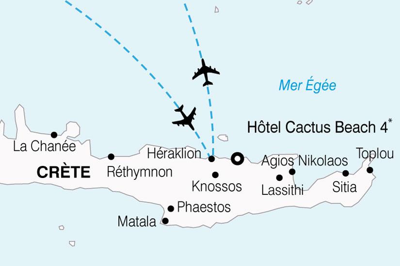 carte Grece Crete Hotel Cactus Beach 374863