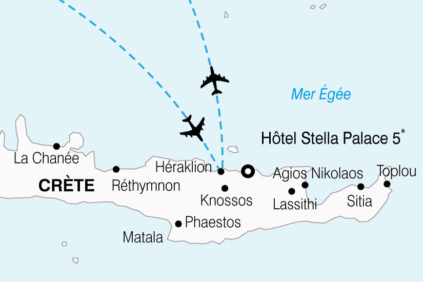carte Grece Crete Hotel Stella Palace 848140