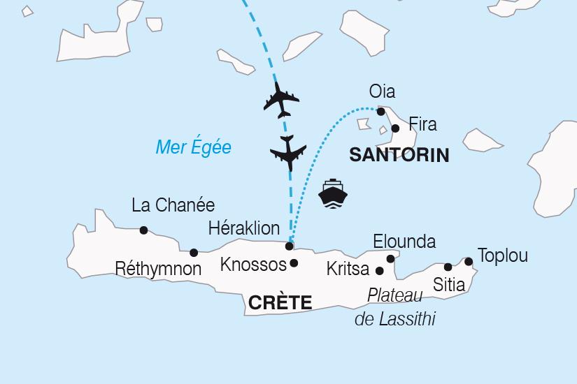 carte Grece Douceurs Mediterraneennes entre Crete et Santorin SH20_339 569577