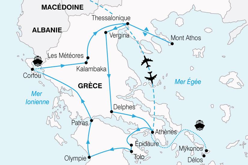 carte Grece Odysee Grecque 819842