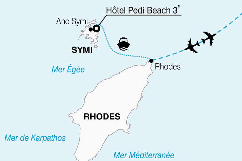 carte Grece Rhodes Hotel Padibeach 274420