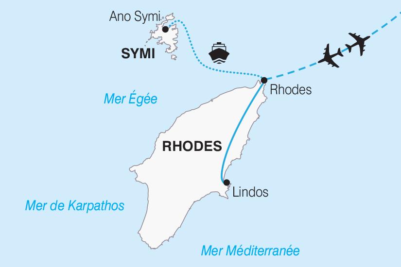 carte Grece Rhodes l ile aux Papillons et l ile de Symi 2019_292 566553