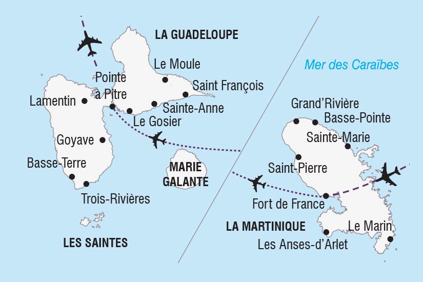 carte Guadeloupe Martinique Carnavals Antillais_306 860924