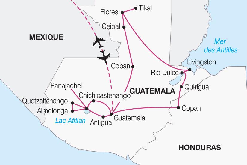 carte Guatemala Honduras Tresors du Guatemala et Honduras 2019_292 271122