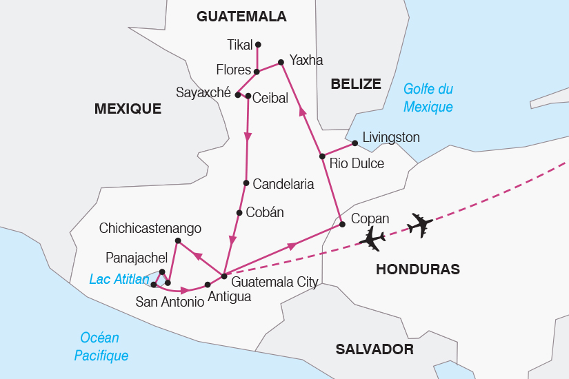 carte Guatemala L Essentiel du Guatemala SH20_339 821218