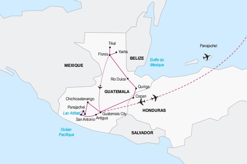carte Guatemala Le Guatemala escapade en terre Maya 2018_267 863556