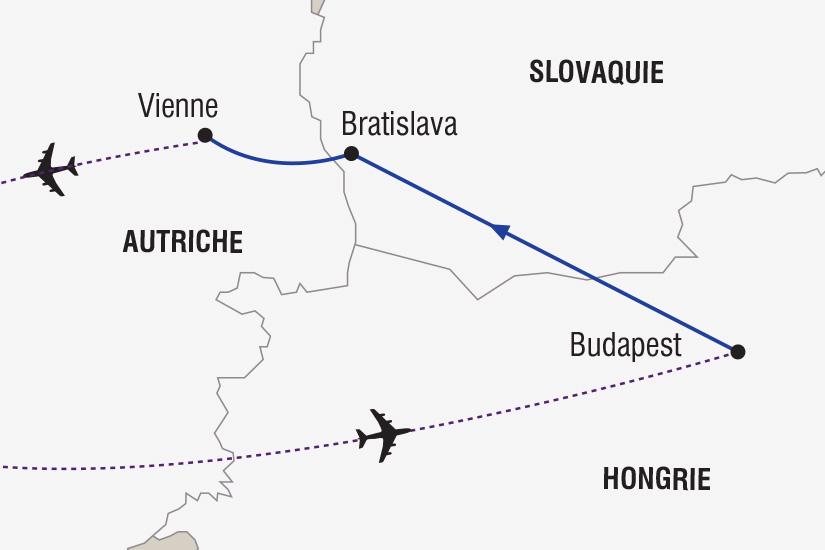 carte Hongrie Autriche Marches de Noel Budapest Vienne_348 787557
