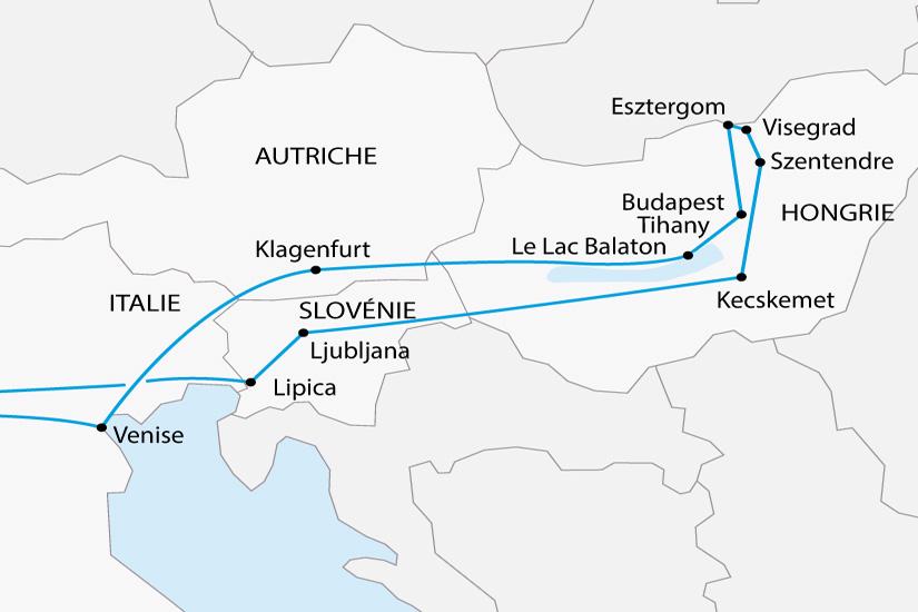 carte Hongrie Danube Puszta Slovenie depart sud 2019_297 823289