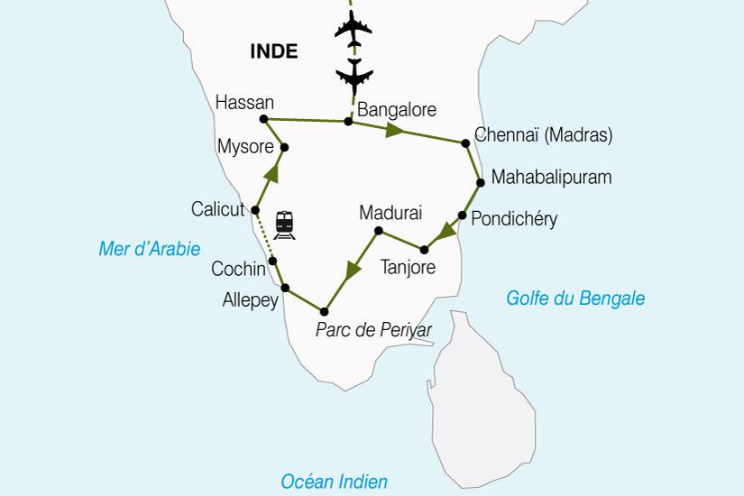 carte Inde Comptoirs Des Indes 232648