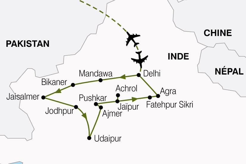 carte Inde Inde Nord Rajasthan 410454