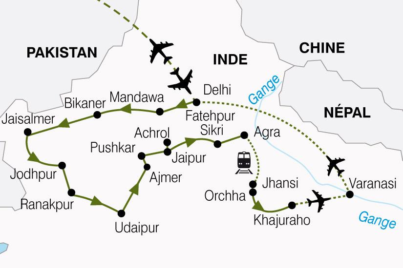 carte Inde Inde Nord Vallee Gange 507648