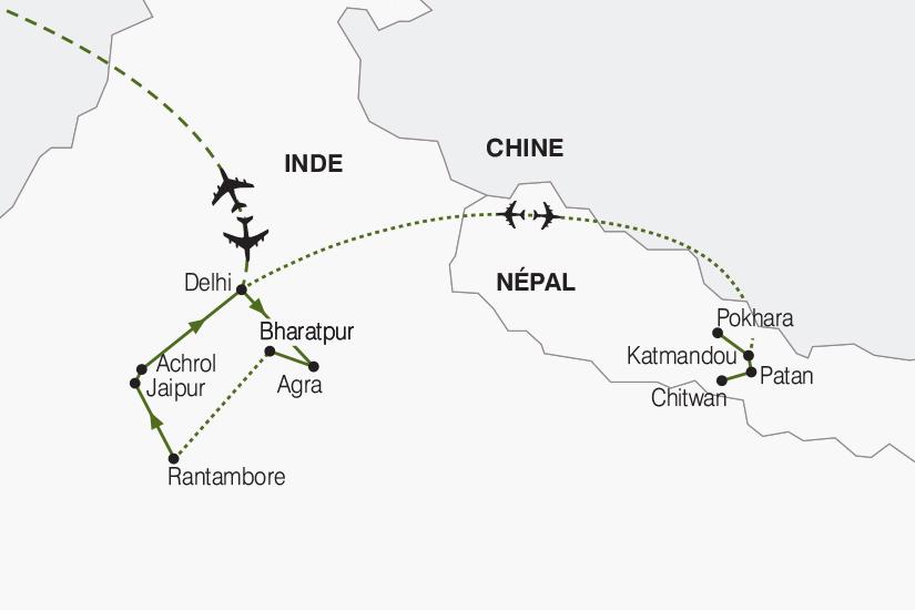 carte Inde Nepal Du Taj Mahal a l Annapurna 2019_292 876429