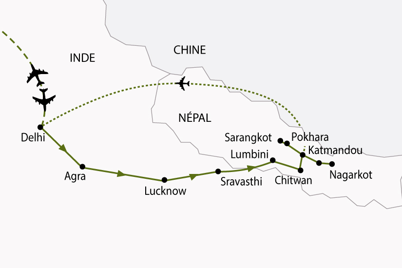 carte IndeNepal TajMahal Annapurna 768714