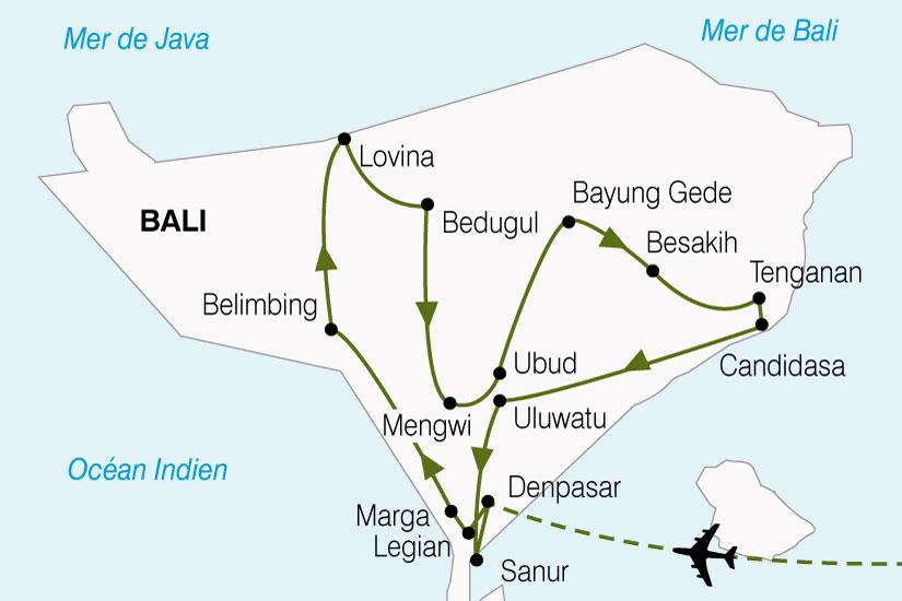 carte Indonesie Bali 382399