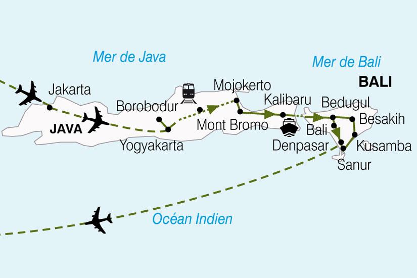 carte Indonesie Escapade Java Bali 210448