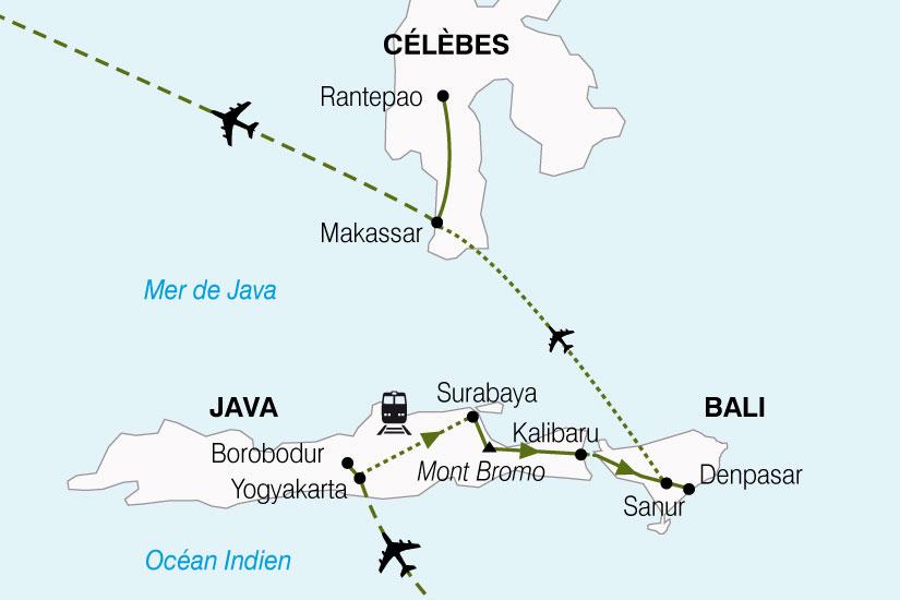 carte Indonesie Java Bali Celebes 454329