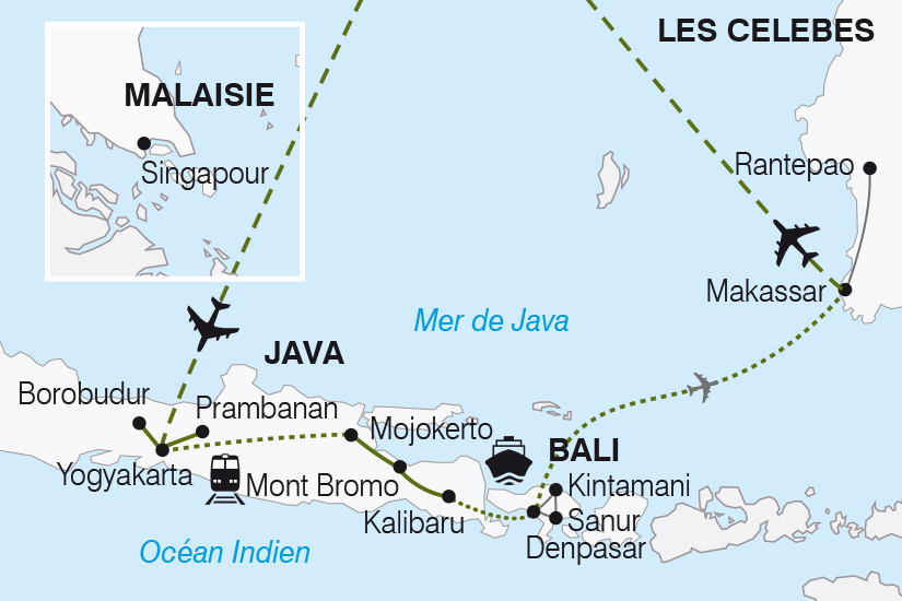 carte Indonesie Java Bali les Celebes Splendeurs Indonesiennes SH19 20_319 501829