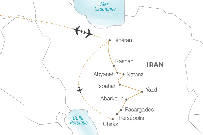 carte Iran L Iran l heritage de la Perse Pouchkine Tours 19_286 396446