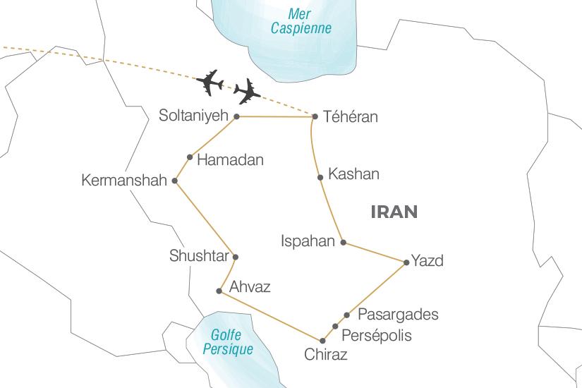carte Iran L Iran les Mille et une Nuits Pouchkine Tours 19_286 708737
