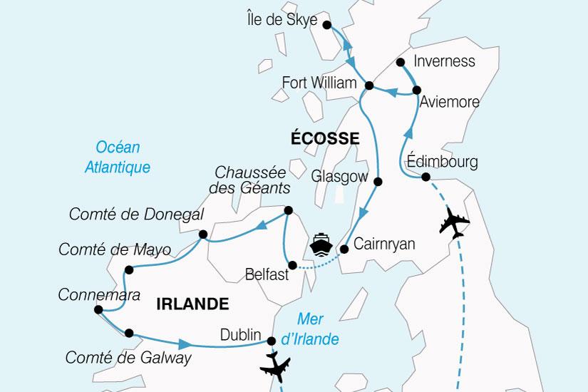 Carte Angleterre Irlande Ecosse.Croisiere Ecosse Irlande Angleterre