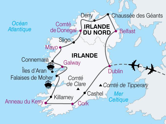 carte Irlande Grand Tour  nthiver 612610