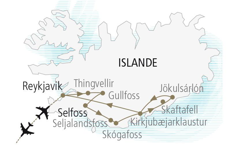 carte Islande Saga Islandaises et Aurores Boreales Nordiska 19 20_307 549375